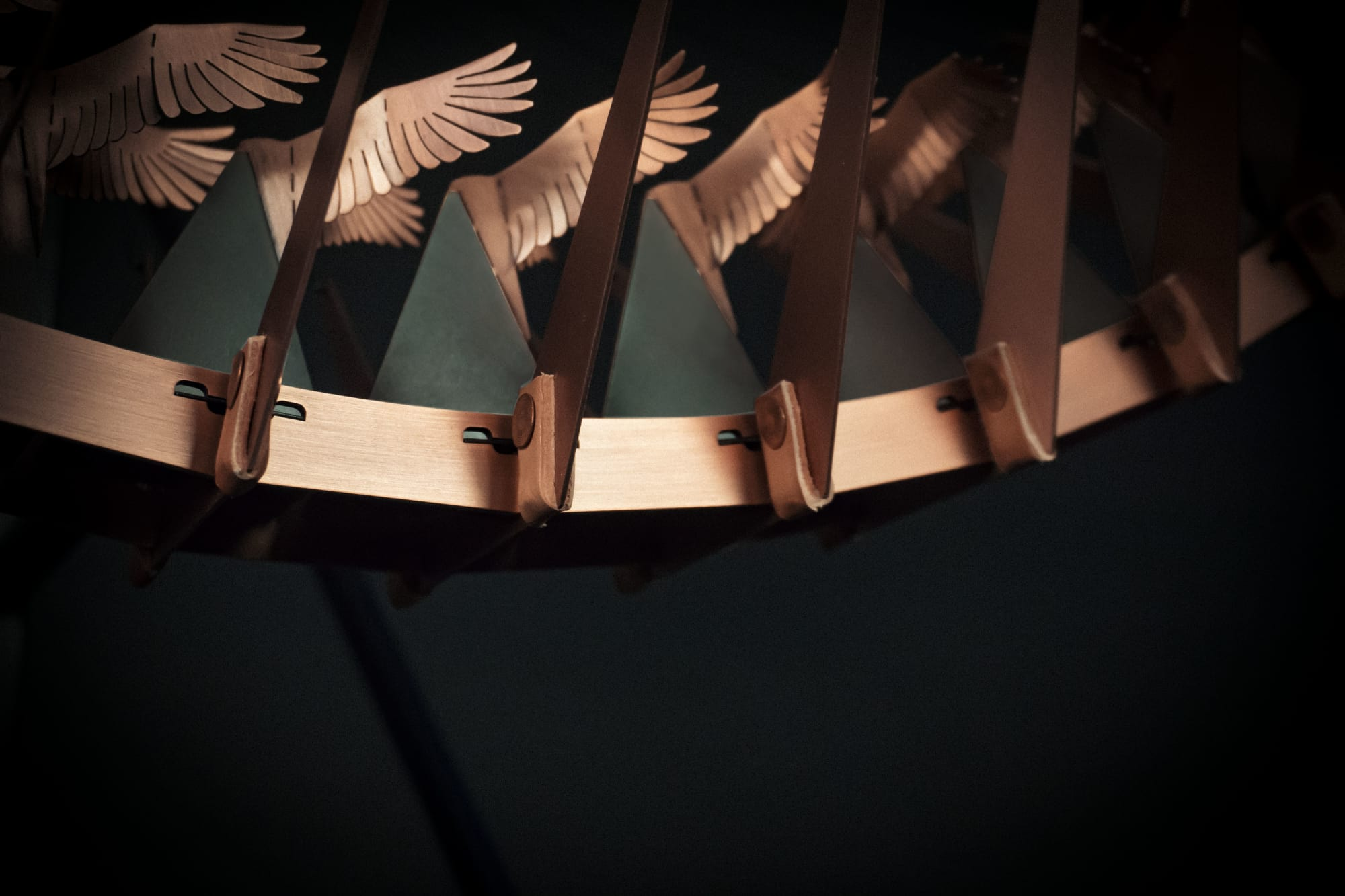 Sculptures by Larose Guyon seen at Hotel EMC2, Autograph Collection, Chicago - Copper in Motion