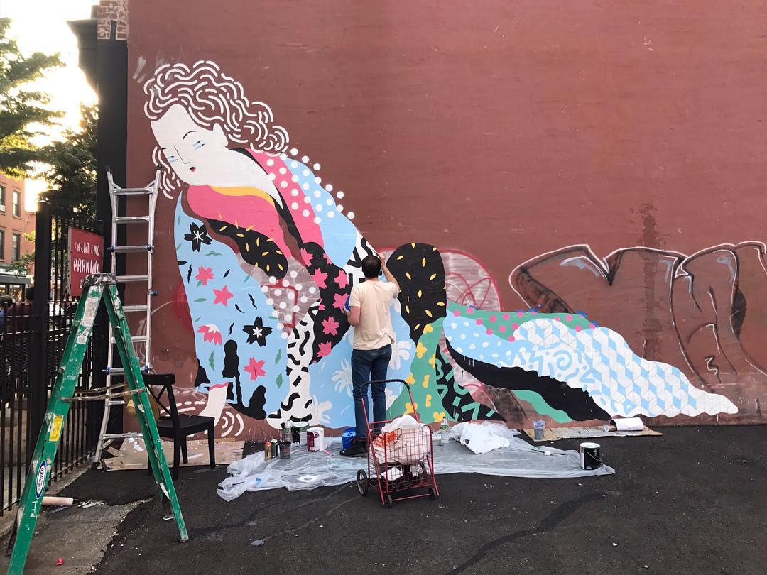 Street Murals by Brolga seen at Williamsburg, Brooklyn - Williamsburg Mural