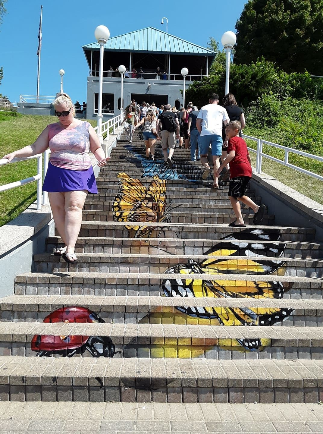 Public Art by Anat Ronen seen at St. Joseph, St. Joseph - Butterfly stairs