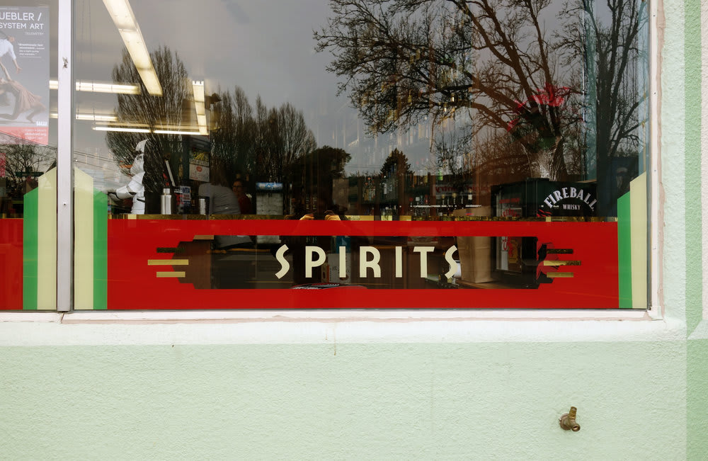 Signage by J&S Signs seen at Westmoreland Liquor Store, Portland - Wall Sign & Facade