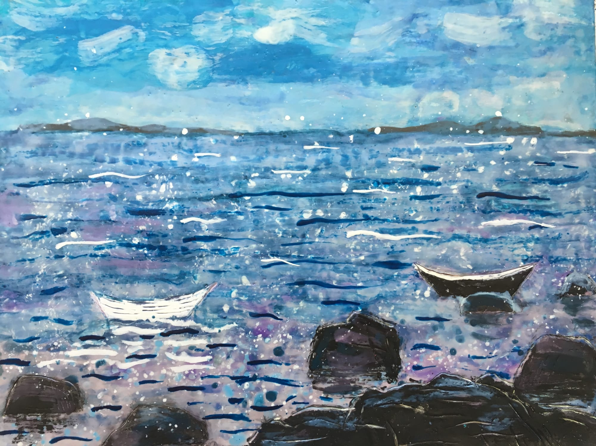 Paintings by willa vennema seen at Portland, Portland - Paintings from The House Series and The Boat Series