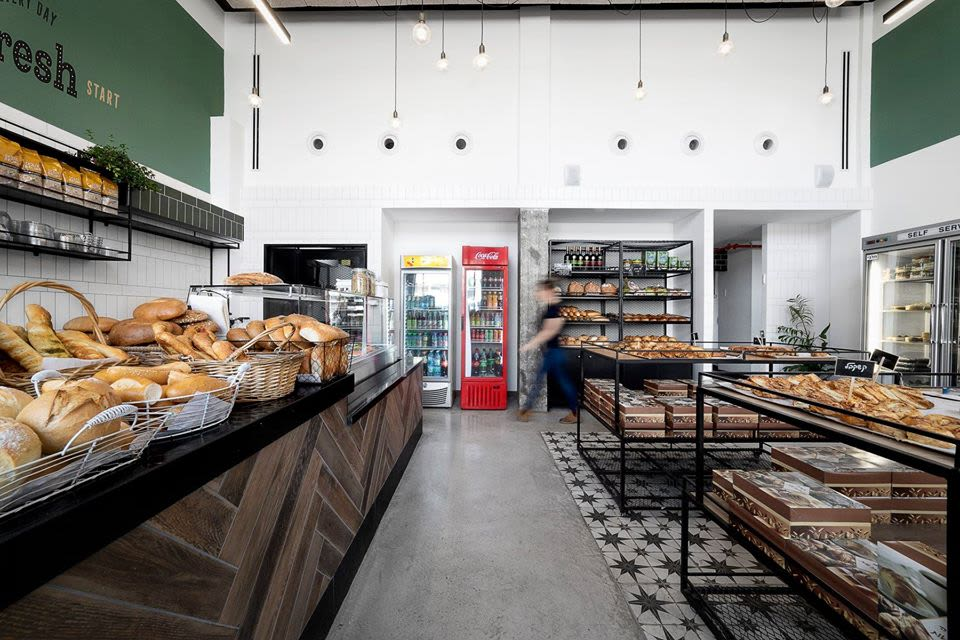 "Interior Design by Mali Lisha Edri designer seen at Happiness Bread Bakery, Rishon LeTsiyon - ""Happiness Bread Bakery"" Project"