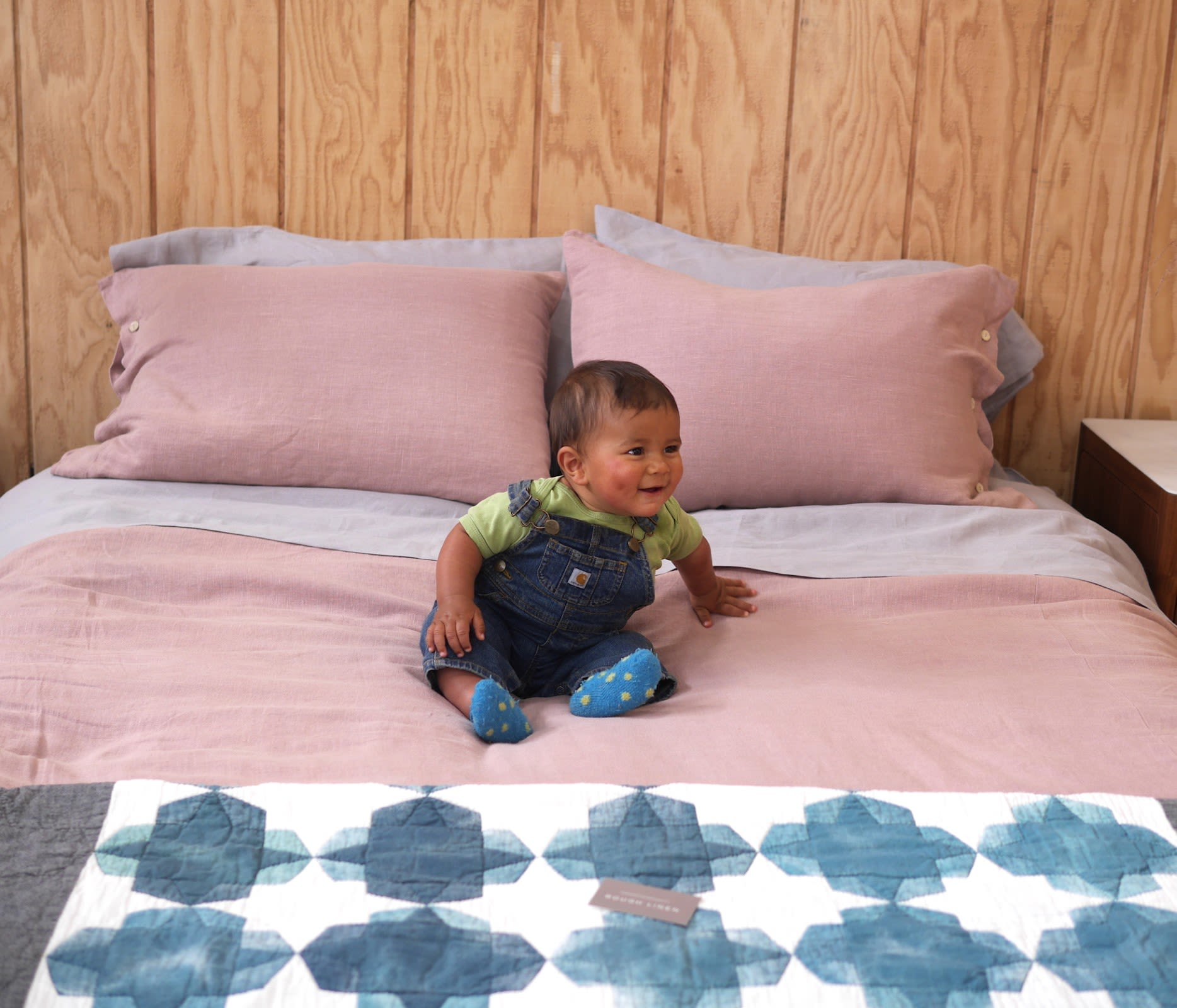 Linens & Bedding by Rough Linen seen at Bay Area Made x Wescover 2019 Design Showcase, Alameda - Linen Bed Makeover