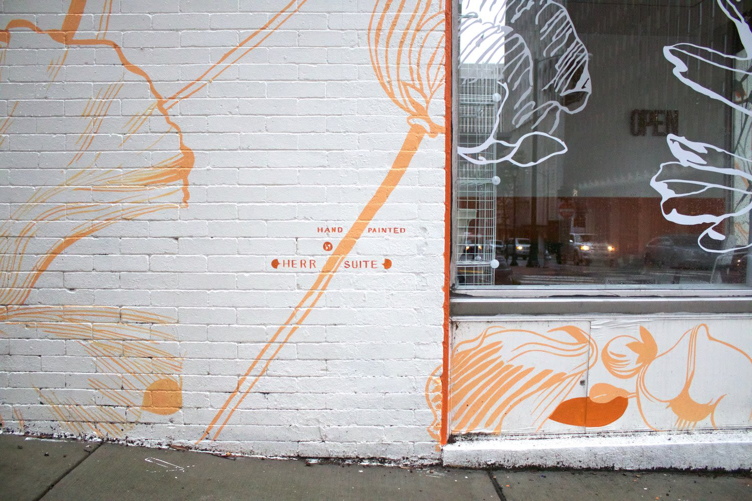 Murals by Emily Herr (HerrSuite) seen at 7th St Supply Co, Richmond - Mural at 7th St Supply Co