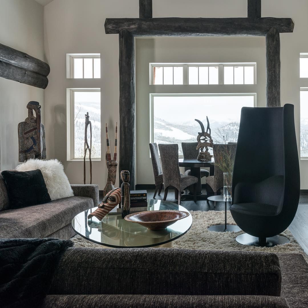 Interior Design by Abby Hetherington Interiors seen at Spanish Peaks Mountain Club, Big Sky - Interior Design
