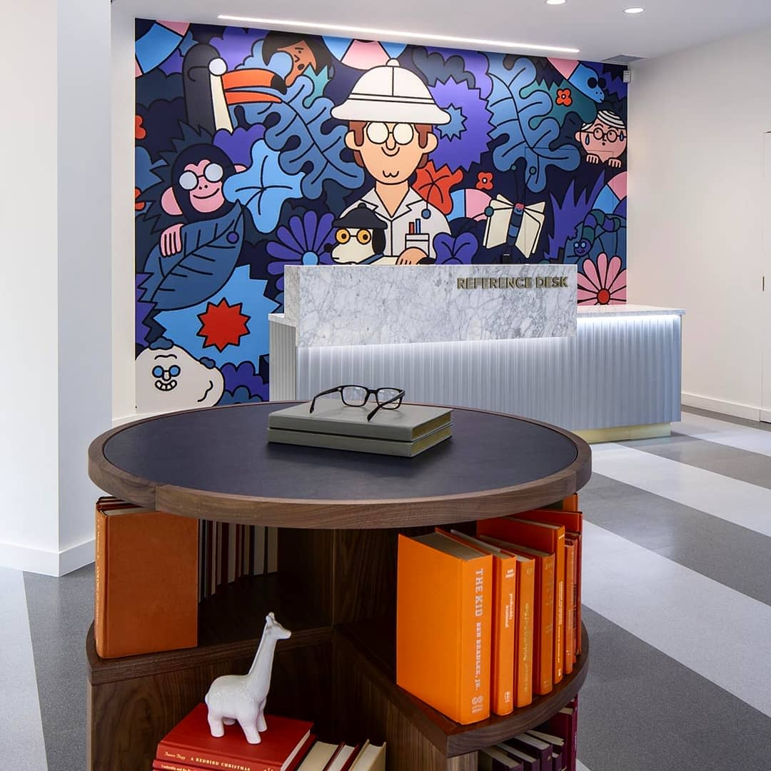 Murals by Leon Edler seen at Warby Parker Madison, Madison - Jungle Scene Mural