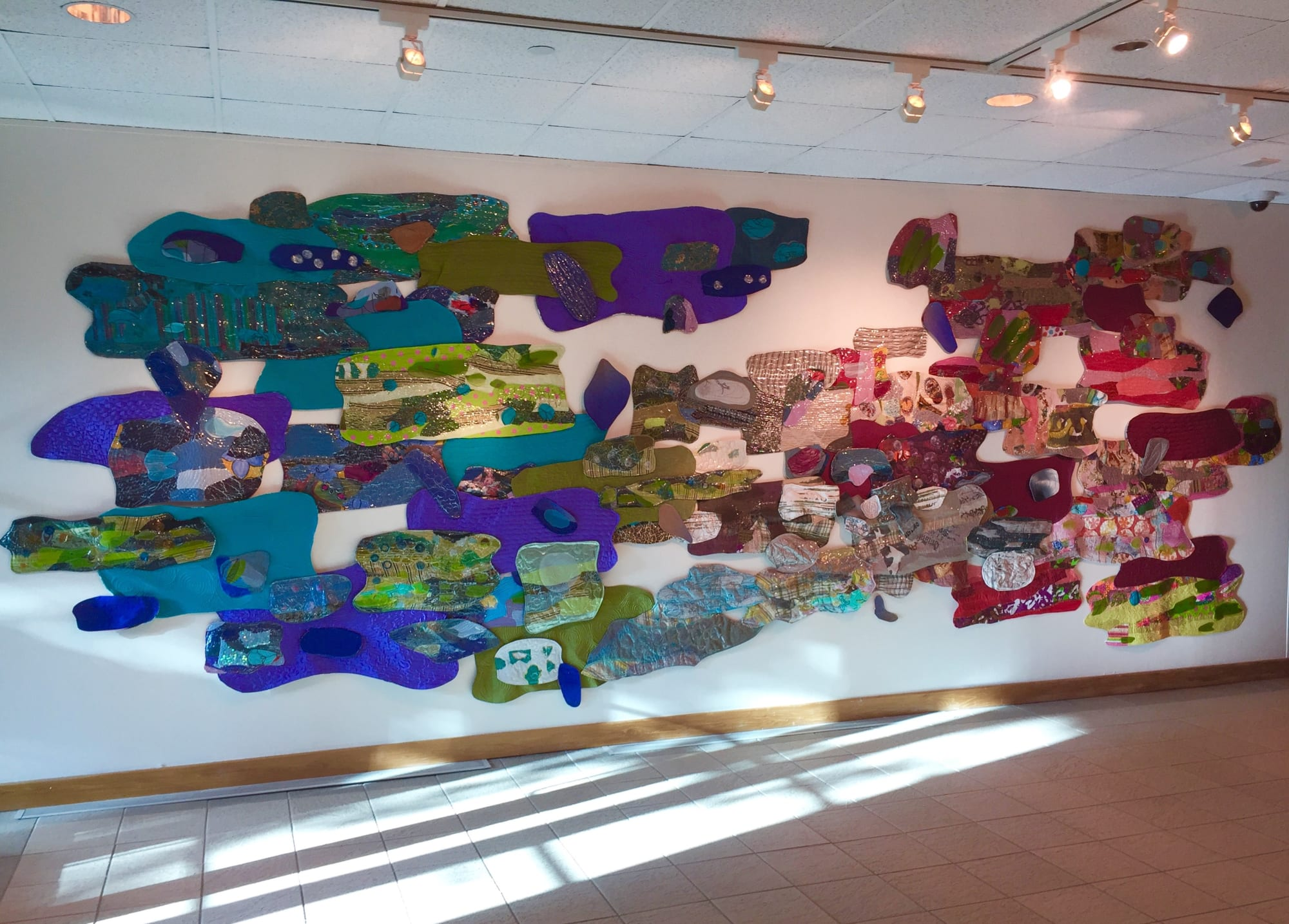 Wall Hangings by Leisa Rich seen at Abernathy Arts Center, Sandy Springs - Industrial Car Wash