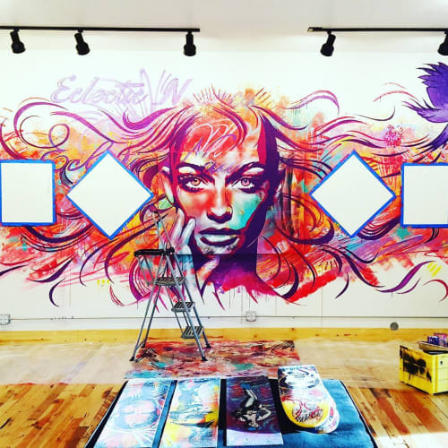 Murals by AbcArtAttack seen at Lasting Dose Tattoo & Art Collective, Reno - Mural