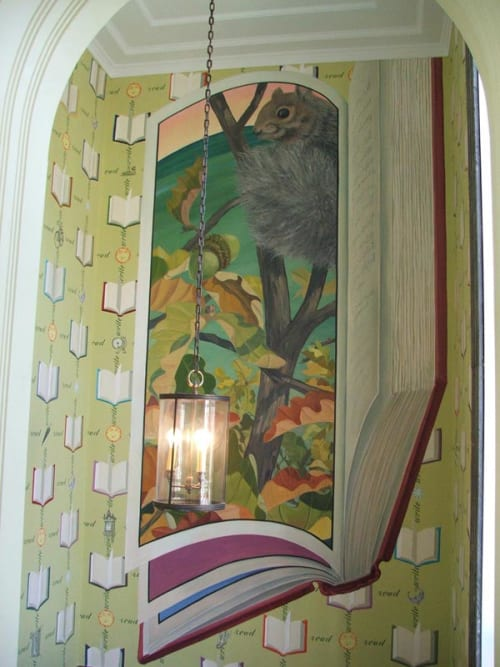 Murals by Thomas Melvin Painting Studio seen at Lake Forest Library, Lake Forest - Mural