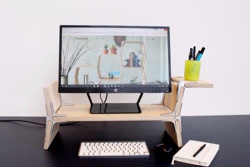 Furniture by Modos Furniture seen at New Lab, Brooklyn - Custom dachshund desk stand