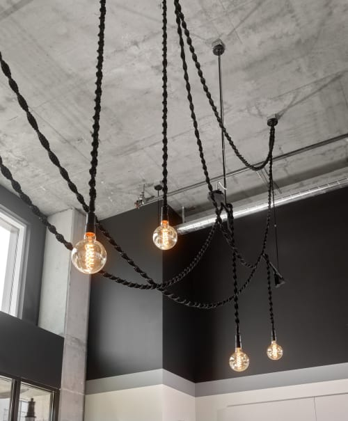 Pendants by Windy Chien seen at Rowan, San Francisco - Helix Light - Black