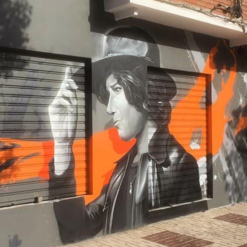 Murals by Lalone seen at Cazuela de Rock, Málaga - Mural