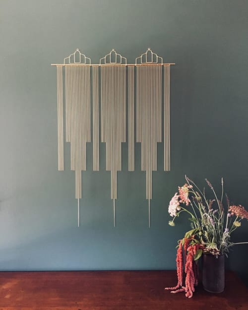 Art & Wall Decor by Beth Naumann seen at Private Residence, Emeryville - Brass Drapery