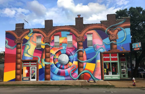 """Murals by Liza Fishbone seen at STL Style House, St. Louis - """"Nothing Impossible"""" mural"""