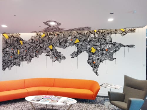 Murals by KEF! at Fishman Haygood LLP, New Orleans - Interior Painting