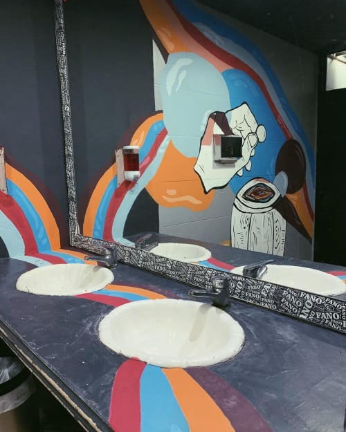 Murals by Marti Fiorentino seen at FANO BEER & BURGER, Paso del Rey - Wall Mural