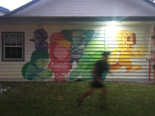 Murals by Yuhmi Collective seen at Boys & Girls Clubs Martin County, Hobe Sound - Mural
