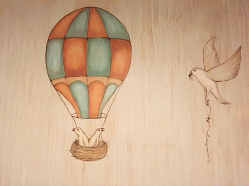 Murals by Ryder Cooley seen at Etsy Office, Hudson NY, Hudson - Nest Mural