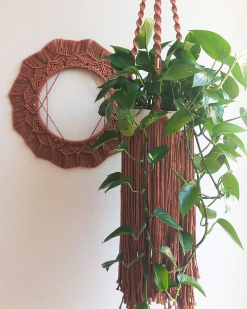 Macrame Wall Hanging by A Knot Story seen at Private Residence, San Francisco - Geometric and Boho Masala Set
