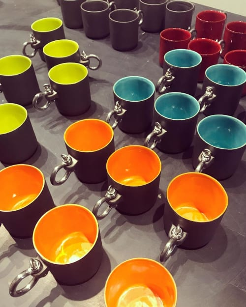Cups by One Handmade Ceramic / Sultan Selim Kır seen at Private Residence, Istanbul - Sailor Cup