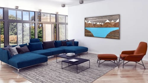Wall Hangings by Craig Forget seen at Private Residence, Essex - Mountain Glacier Scape Artwork