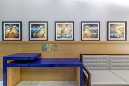 Art & Wall Decor by Lollie Ortiz seen at Courtyard by Marriott New York Downtown Manhattan/World Trade Center Area, New York - Moon Galaxy Abstraction Series