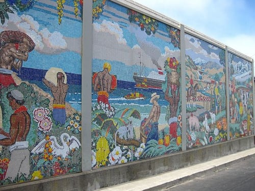 Murals by John Garth seen at 15 Marina Blvd, San Francisco - World Sources of Food
