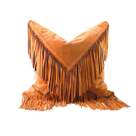 Pillows by Amber Seagraves at The Joshua Tree Casita, Joshua Tree - Elka Fringe Pillow