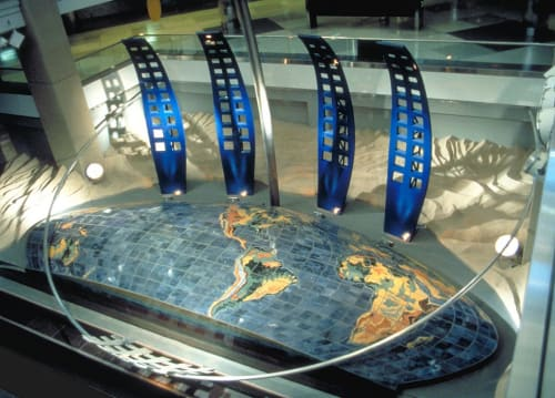 Sculptures by David Griggs seen at Denver International Airport, Denver - Dual Meridian, 1994