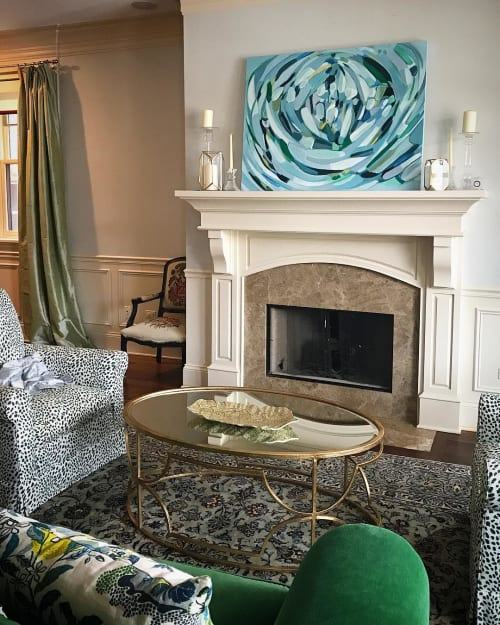 Paintings by Mary Gaspar seen at Private Residence, Chicago - Chicago in Spring
