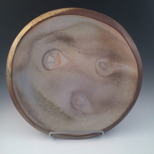 Ceramic Plates by Wannamaker Pottery seen at Private Residence, Taos - Wood Fired Plate