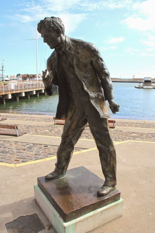 Public Sculptures by Cedric Wentworth seen at Jack London Square, Oakland - Jack London Monument