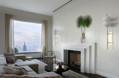 Wall Treatments by Callidus Guild seen at 432 Park Avenue, New York, New York - Incised Plaster with Graphite