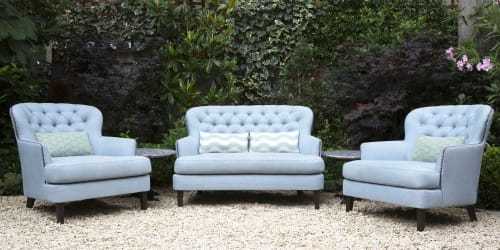 Chairs by Coco Wolf seen at The Ivy Chelsea Garden, London - Massetto Love Seat