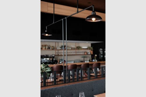 Pendants by Artefact Industries seen at Yarri Restaurant + Bar, Dunsborough - Custom Pendants