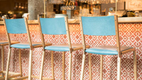 Chairs by Fyrn seen at Bellota, San Francisco - Stanyan Bar Stool