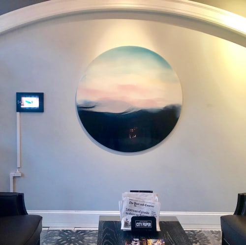 Paintings by Marina Dunbar seen at The Vendue, Charleston's Art Hotel (Historic District), Charleston - A Wind Within