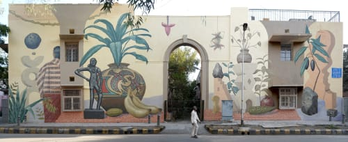 Street Murals by Aaron Glasson seen at Lodi Colony, New Delhi - The Sacrosanct Whole