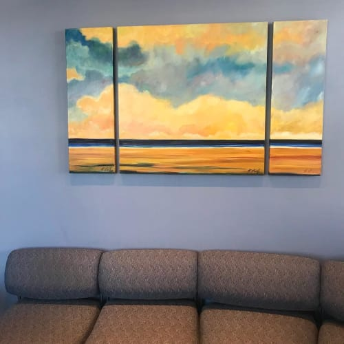 Paintings by Kathleen Keifer seen at Beach Cities Dermatology Medical Center, Redondo Beach - Afternoon Clouds