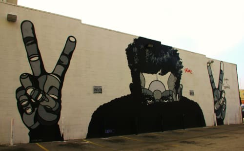 Street Murals by David P. Flores seen at 133 E 3rd St, Los Angeles, CA, Los Angeles - James Dean