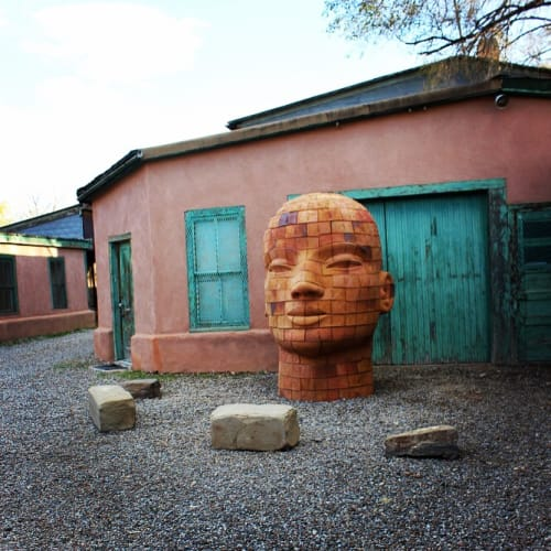 Sculptures by James Tyler seen at Nuart Gallery, Santa Fe - Brickhead LOVE