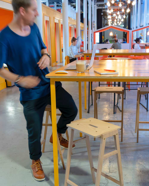 Chairs by King & Webbon seen at Engine Shed, Bristol - KW3 Stools