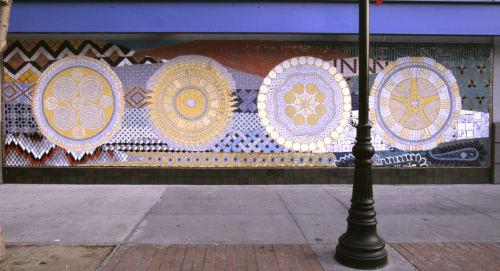 Murals by Jude Pittman seen at Merced Multicultural Arts Center, Merced - SunDisks