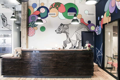 Murals by Allison Kunath at WeWork Fine Arts Building, Los Angeles - WeWork