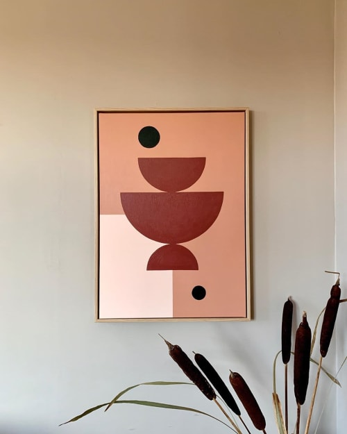 Paintings by Things I Imagined seen at Private Residence, Copenhagen - Acrylic Painting