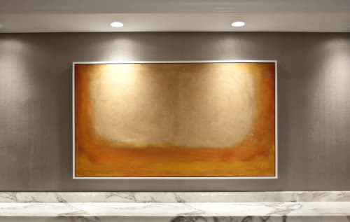 Art & Wall Decor by Matthew Thomas seen at Club Quarters Hotel in Houston, Houston - Abstract Mantle, 2015