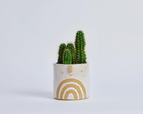 Vases & Vessels by Atelier Stella Ceramics - Mini succulent pot - white rainbow