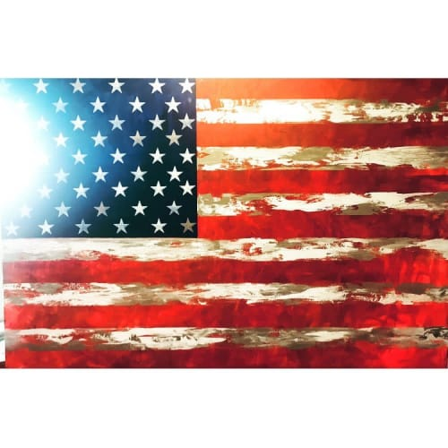 Paintings by Boo Johnson seen at Private Residence, Eugene - American Flag Modern Painting