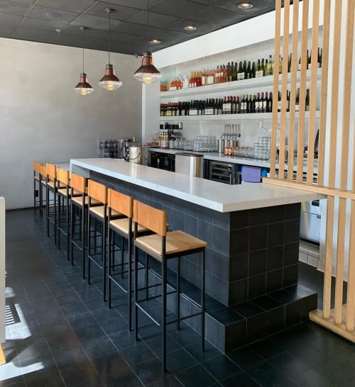 Chairs by Amigo Modern seen at Bone Kettle, Pasadena - Barstool Refresh