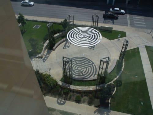 Sculptures by Lewis deSoto seen at The University of Texas at San Antonio, San Antonio - Labyrinth Gateway  2003